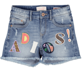 Vingino-X Senna Bellod-Girls  Denim Short Dafina Adios-Light Vintage-Blue denim
