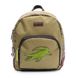 Zebra-Rugzak Boys - Croco Patch-Green