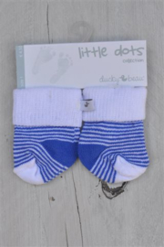 Ducky Beau-Baby Boys pre Socks-Blue stripe