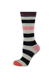 Bampidano-Junior Girls knee high socks Diore NATURE-indio stripe