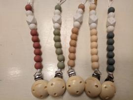 Clip Silicone Beads-Chewies- diverse basis kleuren