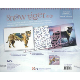 Snow tiger & Co - Wilde katten-C-White-blue