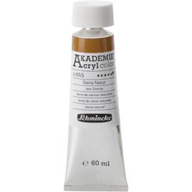 Acryl color-raw sienna (655), semi-opaque, extr. fade resistant, 60ml-Schmincke AKADEMIE