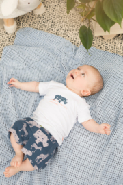 Baby Boys shorts allover print + fake pockets + waist cord-Bampidano- blue aop