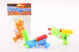 Aqua fun waterpistool fun shooter +/- 18 cm.-C- verschillende kleuren