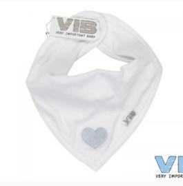 VIB-Unisex Bandana Slab Hartje-White -grey