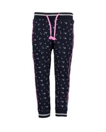 Blue Seven-Kids Girls knitted sweat trouser-Night Blue aop