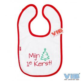 Slabbetje Mijn 1e Kerst-VIB-White-Red