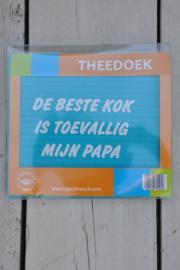 Theedoek De Beste Kok Is ..-Miko-Turquoise