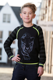 Boys Raglan Sweater Ties -Legends22-Black / Gun Metal Grey