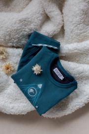 Dirkje-Boys Baby Sweater Ls-Dusty blue