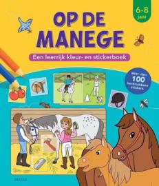 Deltas-Op de manege-Een leerrijk kleur-en stickerboek-Multi Color