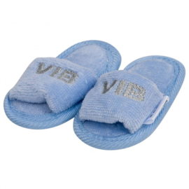 VIB.-Baby boys Slipper VIB' -Light Blue-Silver