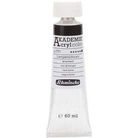 Acryl color-lamp black (771), opaque, extr. fade resistant, 60ml-Schmincke AKADEMIE