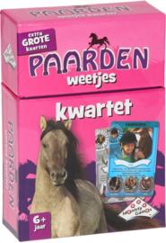 Identity Games-CW-Kwartet paarden-weetjes - Kaartspel-rose