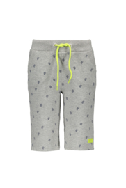 Kids Boys sweat shorts allover print-Bampidano-grey melee AO