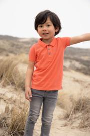 Koko Noko-Boys Noah polo ss Bio Cotton-Neon Coral