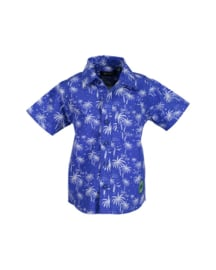 Baby boys woven shirt- Blue Seven- Ocean orig