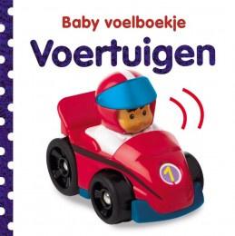 Baby voelboekje voertuigen-CBC- wit