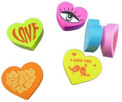 Hartvormige gummen pak a 6 stuks- C- Diverse kleuren