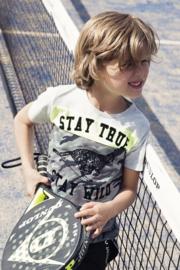 Boys T-shirt-DJ Dutch Jeans-Grey melee + neon yellow + army green