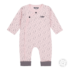 Dirkje-Baby Girls 1 pce Babysuit Bio Cotton -Light pink
