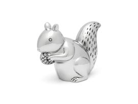 Zilverstad-Unisex Spaarpot eekhoorn-Silver