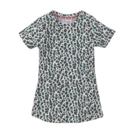 Dirkje- Baby Girls Dress ss-Blue + aop