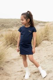 Koko Noko-Girls Niya Dress ss Bio Cotton-Navy