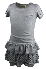 Girls Dress with frills-DJ Dutch Jeans-Grey