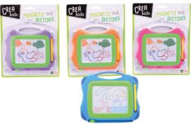 Crea Kids magnetisch kleuren tekenbord b/c- groothandel C- diverse kleuren
