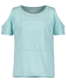 Girls knitted T- shirt- Blue Seven- Lt Turquoise orig