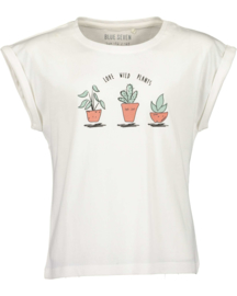 Blue Seven-Girls knitted T-shirt -Offwhite orig