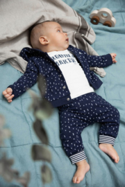 Dirkje-Baby Boys cardigan reversible Bio Cotton-Navy