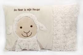 Kussen schaap de Heer is mijn herder-CBC-Roomwit