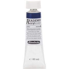 Acryl color- cobalt blue hue deep (443), opaque, good fade resistant, 60ml-Schmincke AKADEMIE