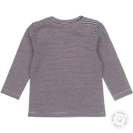 Dirkje-Baby Girls  t-shirt l.s Bio Cotton-Navy-Light pink