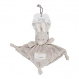 Knuffeldoekje met Konijnenhoofd -VIB-Grey