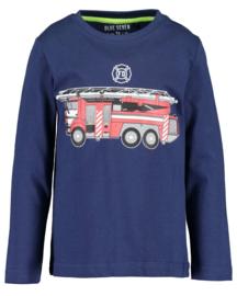 Blue Seven-Kids Boys knitted T-shirt-DK Blue orig