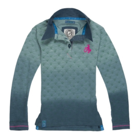 Jn Joy-Girls Poloshirt- Green Fans