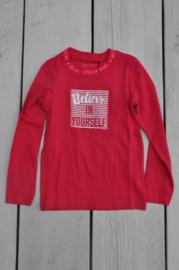 Kids Girls knitted T-Shirt -Blue Seven- Magenta