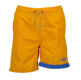 Boys woven beach bermuda-Blue seven- Lt Orange orig