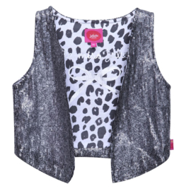 Girls Gilet Safari Chic- Juliette- Grey