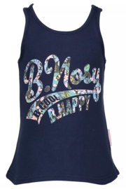 Girls tanktop with small top-B.Nosy- Blueberry