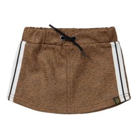Koko Noko-Girls Skirt-Camel + black