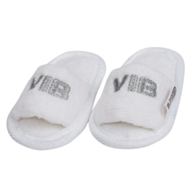 VIB-Unisex Baby Slipper VIB' -White-silver