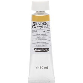 Acryl color-naples yellow (659), semi-opaque, extr. fade resistant, 60ml-Schmincke AKADEMIE