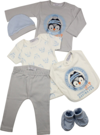 Baby Boys giftset- Dirkje- Light blue+ off white