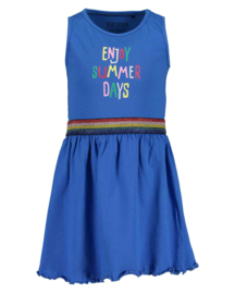 Kids Girls knitted Dress-ENJOY SUMMER-Blue Seven-OCEAN ORIG