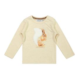 Dirkje-Girls Baby T-shirt ls-Beige melee